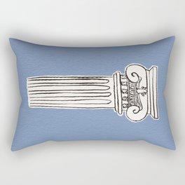 Greek ionic column Rectangular Pillow