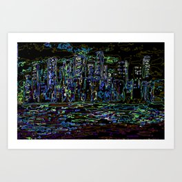 Neon Lights City Art Print