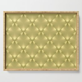 Quilted Gold Butterfly Panels Serving Tray