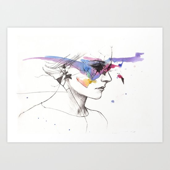 Woman With A New Vision Art Print