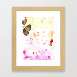 butterfly's breathe Framed Art Print