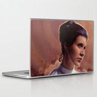 leia Laptop & iPad Skins featuring Leia by Jackie Sullivan