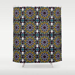 Jeweled Kaleidoscope Mandalas Shower Curtain