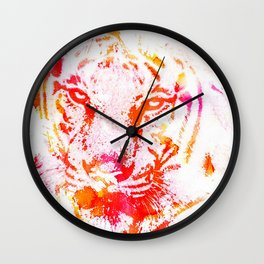 Rainbow Tiger Wall Clock