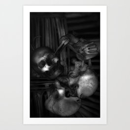Kostnice Beinhaus CoA Detail Art Print