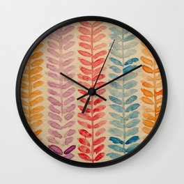 watercolor knit pattern Wall Clock