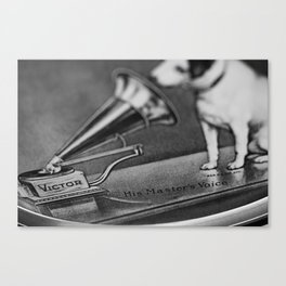 His Master's Voice - Nipper The Dog Canvas Print