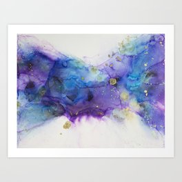 Make a Wish Alcohol Ink Painting Art Print