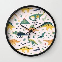 Land of Dinosaurs Wall Clock