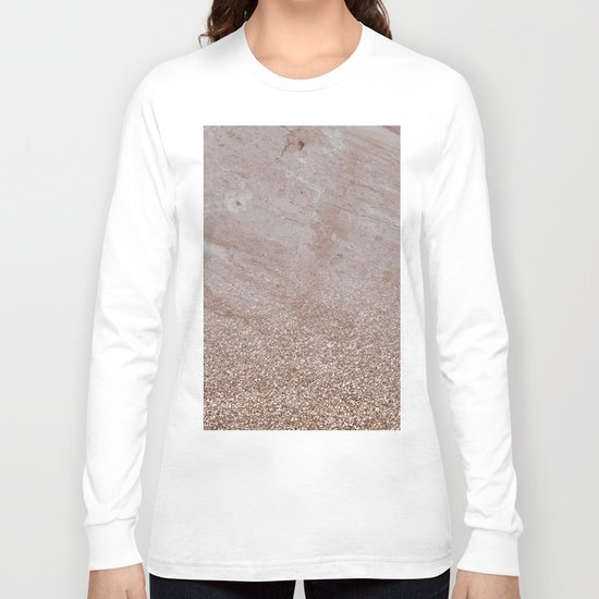 Beige shimmer marble gradient Long Sleeve T-shirt