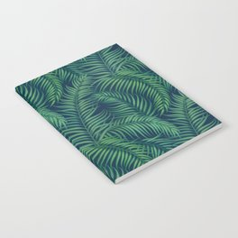 Night tropical palm leaves Notebook