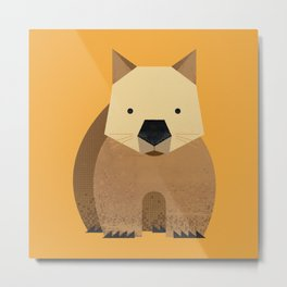 Whimsy Wombat Metal Print