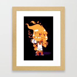 Fire Punk Framed Art Print
