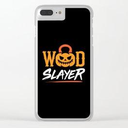 WOD Slay er Pumpkin Clear iPhone Case