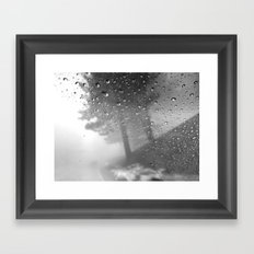 rain and fog Framed Art Print