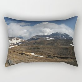 Panoramic view of fumaroles activity active volcano on Kamchatka Peninsula Rectangular Pillow