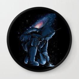 Welder In Space Wall Clock