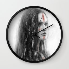 War Feathers Wall Clock