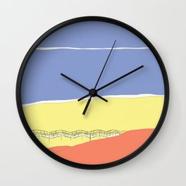 Primary Beach Wall Clock