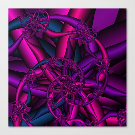 Pink Purple and Blue Canvas Print