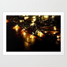 white lights - christmas Art Print