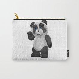 Panda Bear Waving Blue Eyes 0AQ 2 Carry-All Pouch