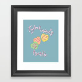Taylors candy hearts Framed Art Print