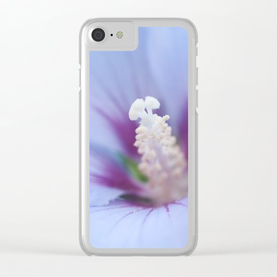 Soft Purple Hibiscus Flower #1 #art #society6 Clear iPhone Case