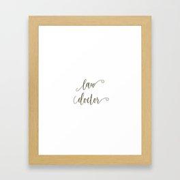 Law Doctor Framed Art Print
