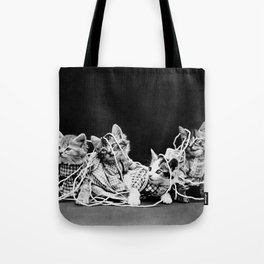 Kittens Playing With Yarn - The Entanglement - Harry Whittier Frees Tote Bag