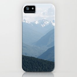 Olympic Mountains iPhone Case
