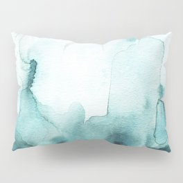 Soft teal abstract watercolor Pillow Sham
