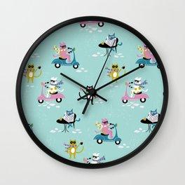 Caffeinated Cats Wall Clock