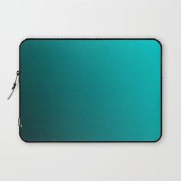 Gradient Aqua and Black Laptop Sleeve