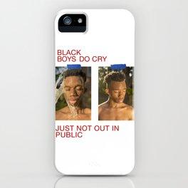black boys do cry iPhone Case