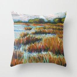 Cape Fear Estuary Throw Pillow