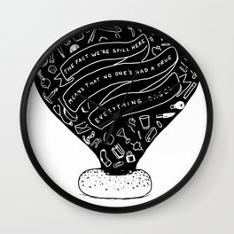 everything bagel Wall Clock