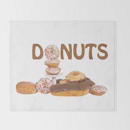 Delightful Donuts Throw Blanket