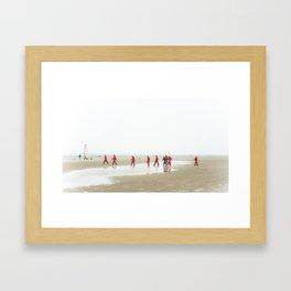 Water games Framed Art Print