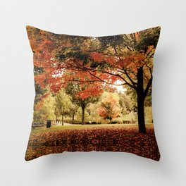 Red Maple in Larz Anderson park. Throw Pillow