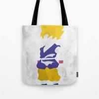 goku Tote Bags featuring Goku SSJ by JHTY