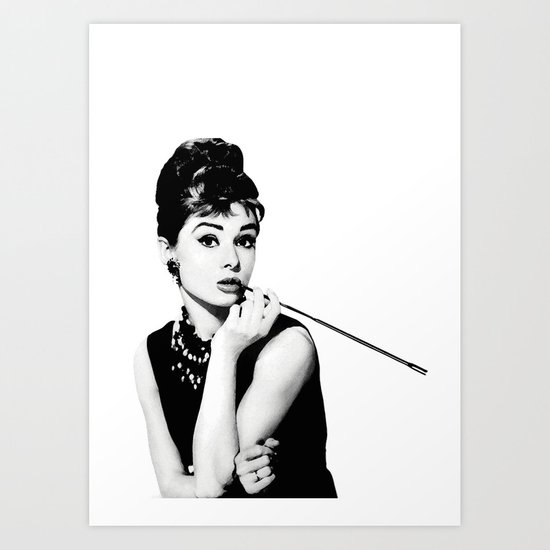 audrey hepburn poster art print by hadasi society6. Black Bedroom Furniture Sets. Home Design Ideas