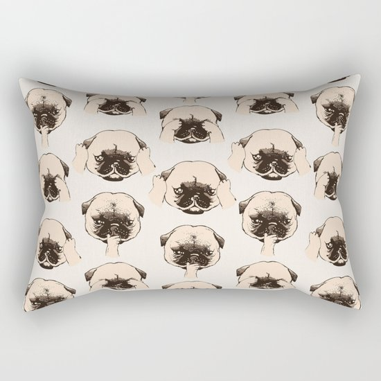 No Evil Pug Rectangular Pillow