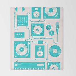 Electronica Throw Blanket