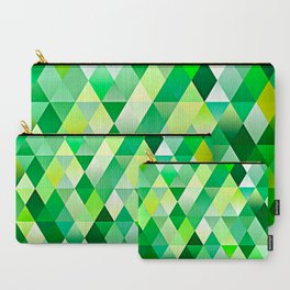 Lime Green Yellow White Diamond Triangles Mosaic Pattern Carry-All Pouch
