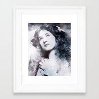 iron maiden Framed Art Prints featuring Maiden by ArtChickStudio