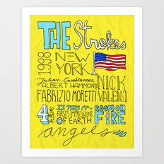 Collage Series I: The Strokes Art Print