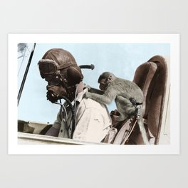 Colourised: North African Campaign Art Print