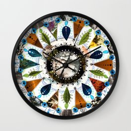 Earth Mandala Wall Clock