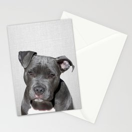 Pit bull - Colorful Stationery Cards
